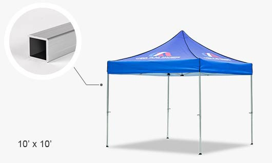 Custom square-frame tents for outdoor promotions - J&K Import and ...